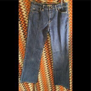 Michael Kors Straight Leg Leather Label Blue Jean